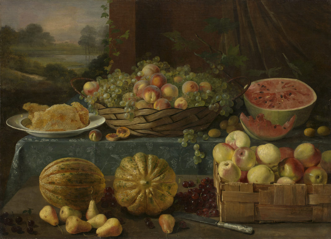 Lot 13. Ivan Khrutsky, Still Life with Fruit and Honeycomb, 1840. 350,000-500,000 GBP