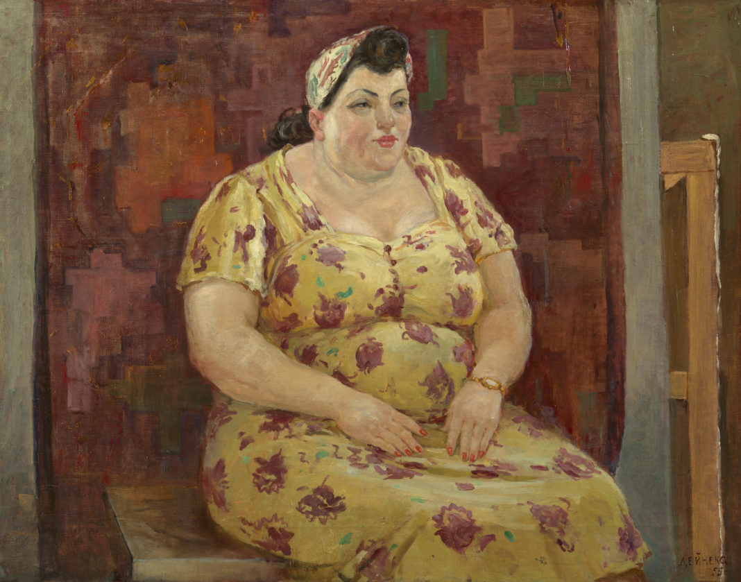 Lot 7. Alexander Deineka, Woman in a Yellow Dress, 1955. 300,000-500,000 GBP